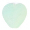 Glass Pressed Beads 10x10mm Heart Mint Green Matt